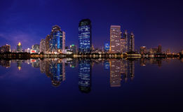City of twilight stock photography