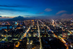 City at twilight - Kaohsiung, Taiwan Royalty Free Stock Images