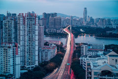 City twilight view of Guangzhou Stock Photos