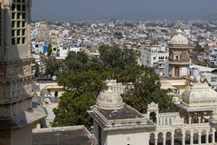 City of Udaipur from the city palace Royalty Free Stock Photography