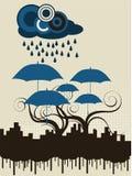 City Umbrella Royalty Free Stock Image