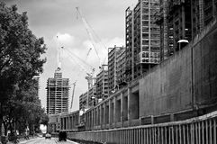 City under construction Royalty Free Stock Photography