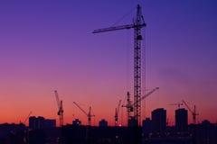 City under construction stock photos