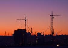 City under construction royalty free stock photo