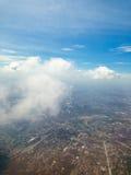City under high blue sky Royalty Free Stock Photo