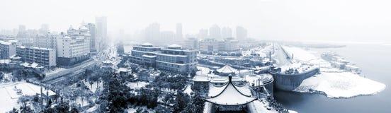 City under snow Royalty Free Stock Photos