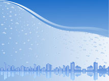 City under water Royalty Free Stock Photo