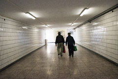 City underground passage Royalty Free Stock Photos