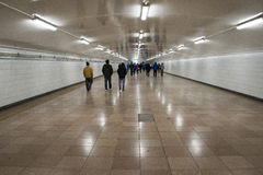 City, the underground passage Royalty Free Stock Photography