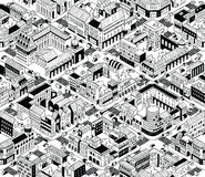 City Urban Blocks Isometric Seamless Pattern - Medium royalty free illustration