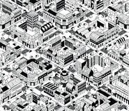 City Urban Blocks Isometric Seamless Pattern - Medium Stock Photo