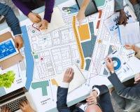 City Urban Blueprint Plan Infrastacture Concept Royalty Free Stock Photos