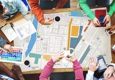 City Urban Blueprint Plan Infrastacture Concept Stock Photography
