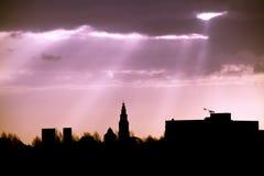City urban silhouette Stock Photos