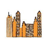 City urban view Arkivfoto