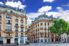 City, urban  view on building in  Paris.France. Royalty Free Stock Photo