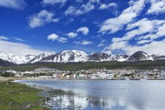 City of Ushuaia, Patagonia, Argentina on a sunny day Royalty Free Stock Image