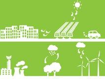 City using renewable energy Royalty Free Stock Photos