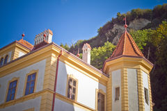 City Vaduz. With Vadyz Castle Royalty Free Stock Images