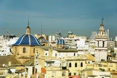 City Valencia. Panoramic view church - city Valencia, Spain Stock Images