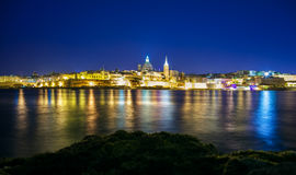 City of Valetta at night Stock Photography