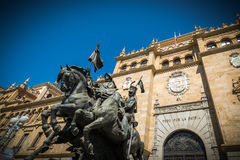 City of Valladolid. Academy of cavalry, Valladolid in Spain Stock Image