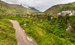 The city in a valley in Ecuador Stock Image