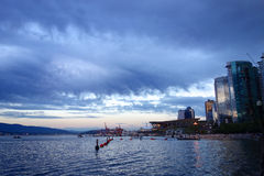 City of Vancouver,Canada royalty free stock images