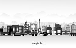 City. A vector illustration of a night time city skyline Royalty Free Stock Photos