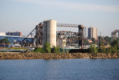 City. A veiw off the shores of Lake Erie Royalty Free Stock Image