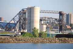 City. A veiw off the shores of Lake Erie Stock Photo