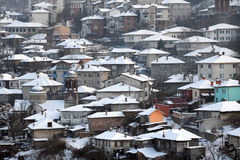 City of Veliko Tarnovo in the Winter Royalty Free Stock Images