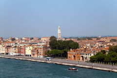 City of Venice. A cityscape view of Venice, Italy from high above the water Stock Images