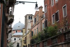 The city of venice. Photo image with historical  buildings  in the city of venice Stock Photos
