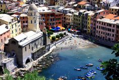 Vernazza, Cinque Terre. The city Vernazza in Cinque Terre in northern Italy (Liguria Stock Images