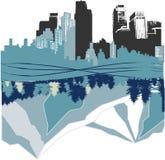 City versus nature Royalty Free Stock Image