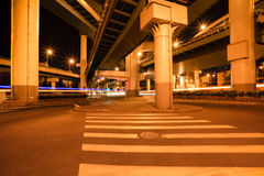 City viaduct at night Royalty Free Stock Images