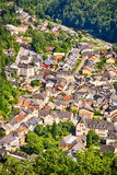 The city of Vianden, Luxembourg Royalty Free Stock Image