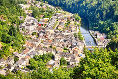 The city of Vianden and river Our, Luxembourg Royalty Free Stock Photo