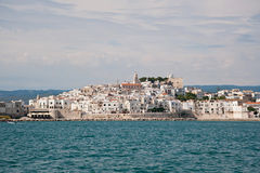 City of Vieste view from the sea Royalty Free Stock Photo