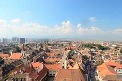City View. Skyline Of Sibiu, Medieval City From Romania Royalty Free Stock Photo