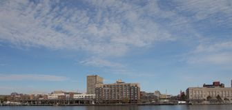 City view. A view of Wilmington, North Carolina from across thr cape fear river Royalty Free Stock Photography