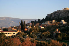 City view. A general city view at the ancient part of Athens Stock Photos