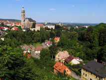 City view. Look on historical city Kutna Hora. Czech Republic royalty free stock photos