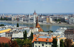 City across river danube Stock Photography
