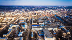 City view from the air, Russia Stock Photo