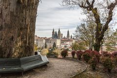 City view from Alameda park,Santiago de Compostela,Spain.  Stock Image