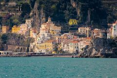 City view . Amalfi. Italy stock images