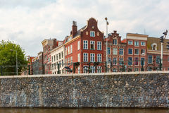 City view of Amsterdam canal and typical houses, Holland, Nether Stock Images