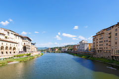 City View at the Arno river Royalty Free Stock Image